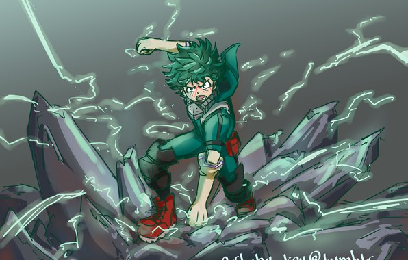 Picture art, guy, My Hero Academia, Boku No Hero Academy, Midori Isuku, My Hero Academy