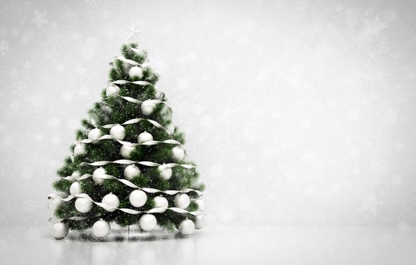 Picture decoration, balls, tree, New Year, Christmas, Christmas, balls, New Year, decoration, xmas, Merry, fir tree