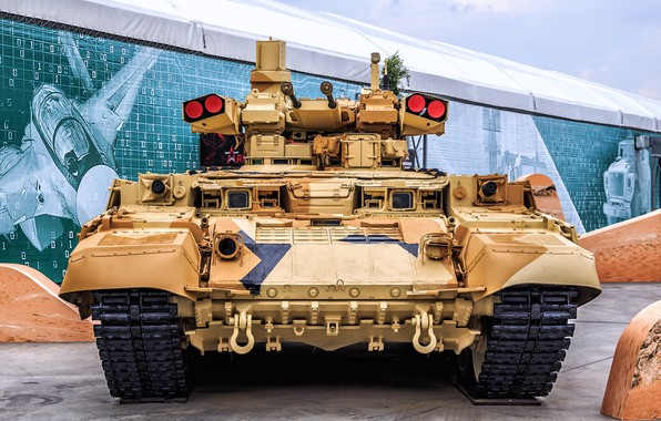 Picture front view, BMPT, Object 199, the fighting vehicle of support of tanks, BMPT Terminator