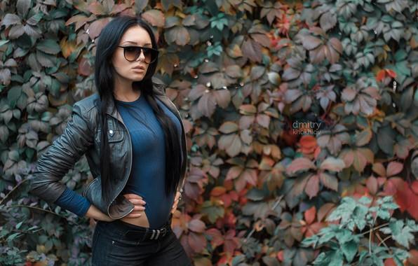 Picture autumn, girl, photo, glasses, jacket, Maria, Dim Khokhlov