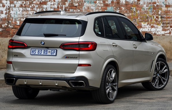 Picture car, grey, BMW, lights, back, BMW X5M, BMW X5M 2019, X5 M50d