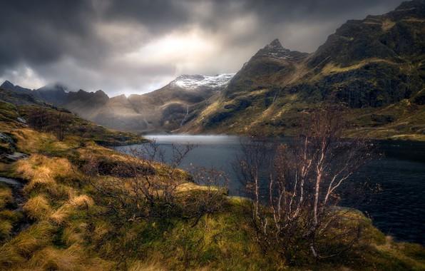 Picture autumn, mountains, nature, lake
