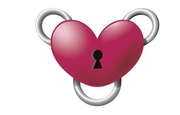 Picture rendering, heart, minimalism, Valentine, Valentine's Day, clasp, Joshua Worley, Heart Binder