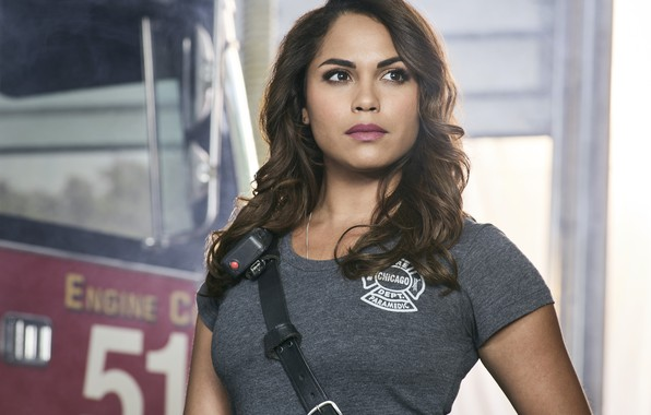 Picture look, pose, brunette, the series, Monica Raymund, Monica Raymund, Chicago Fire, Chicago Fire, Gabriela Dawson