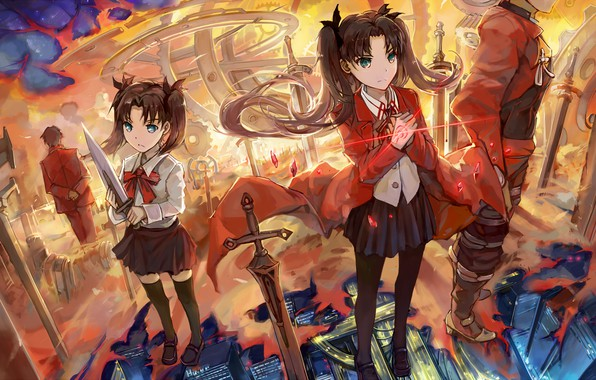 Picture girl, girl, Archer, Fate stay night, Fate / Stay Night, memory