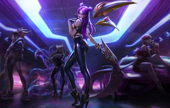 Picture The game, Microphone, Feet, Heels, Legs, Art, Art, Beauty, lol, Game, Beautiful, Akali, League of …