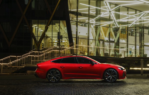 Picture Audi, side view, RS 7, 2020, UK version, RS7 Sportback