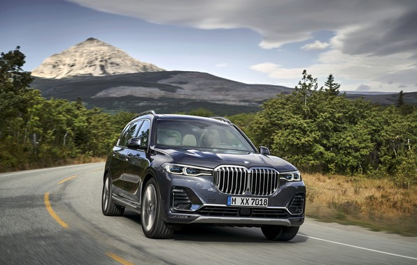 Picture road, mountain, BMW, 2018, crossover, SUV, 2019, BMW X7, X7, G07
