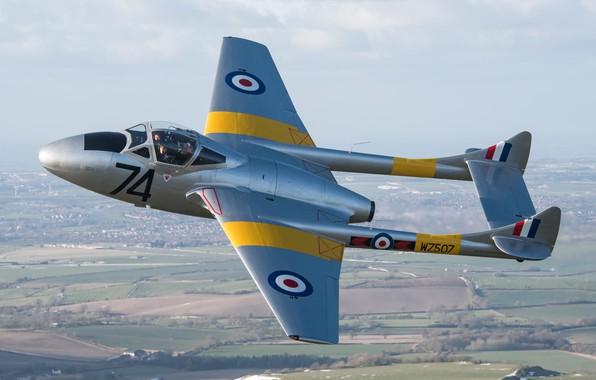 Picture Fighter, Vampire, RAF, De Havilland Vampire, Combat training, de Havilland Aircraft Company, De Havilland DH-115 …