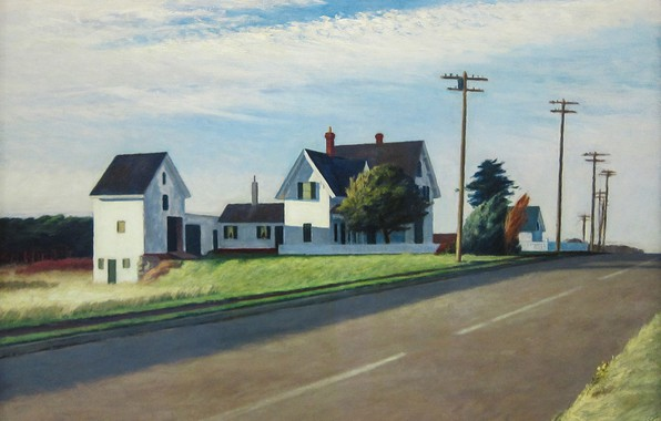 Picture Edward Hopper, 1941, Route 6, Eastham