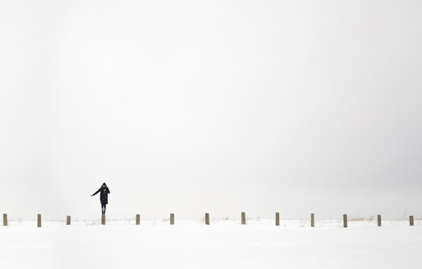Picture white, girl, background, Minimalism