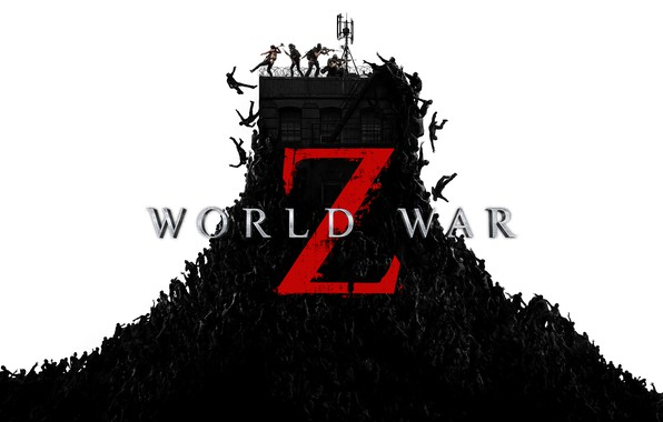 Picture guns, zombies, people, World War Z