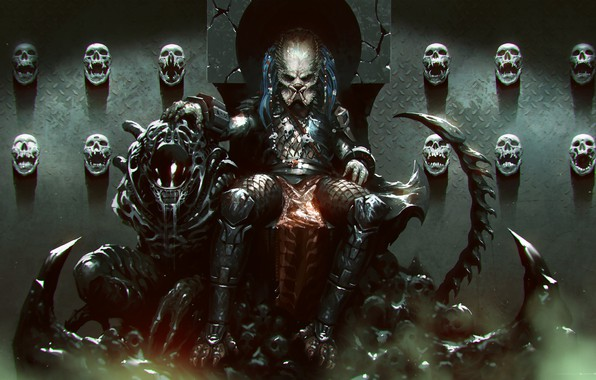 Picture Figure, Skull, Predator, Art, Predator, Fiction, The throne, Concept Art, Character, Collection, Collector, Collector, Science ...