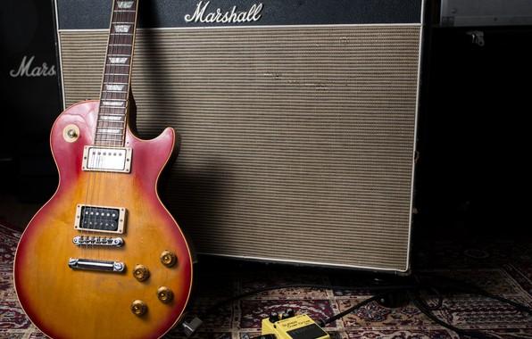 Picture music, guitar, column, electric guitar