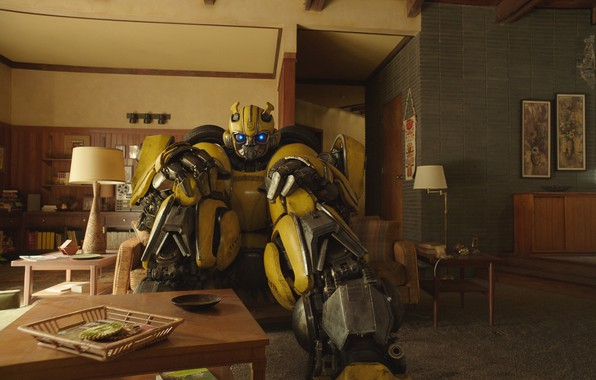 Picture lamp, robot, Transformers, apartment, Bumblebee