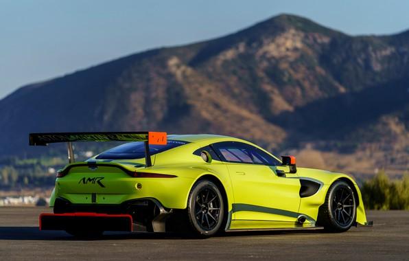 Picture Aston Martin, Vantage, racing car, rear view, 2018, GTE