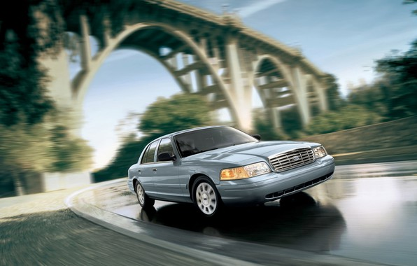 Picture Ford, Car, Speed, Bridge, Crown Victoria