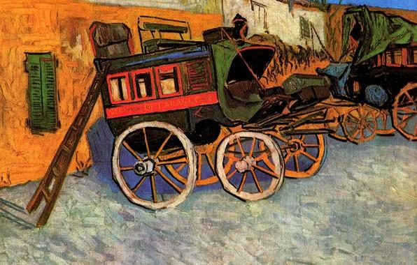Picture ladder, coach, Vincent van Gogh, Tarascon Diligence