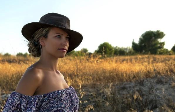 Picture girl, portrait, hat