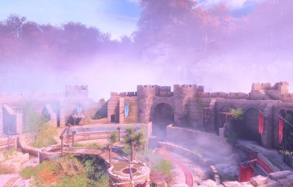 Picture castle, rocks, courtyard, a plague tale: innocence