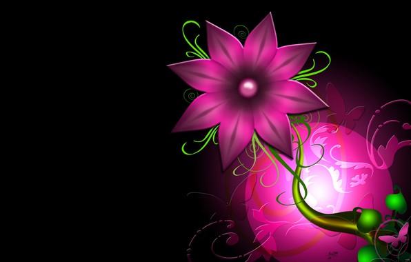Picture flower, pattern, paint, vector