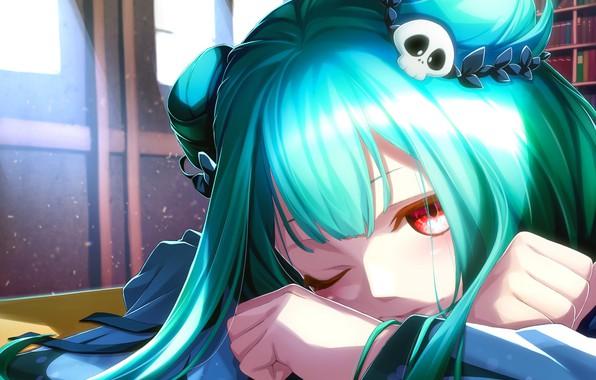 Picture girl, anime, art, hololive, Virtual YouTuber, uruha rushia