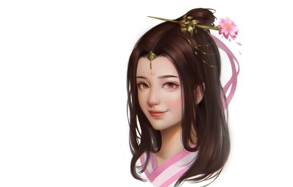 Picture portrait, anime, art, girl, children's, Panda Hu, Little exercise