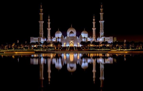 Picture Abu Dhabi, UAE, Grand Mosque, Sheikh Zayed