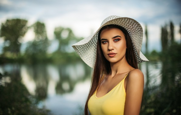 Picture chest, water, Girl, hat, Chavdar Dimitrov
