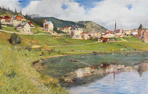 Picture 1910, Italian painter, Italian painter, oil on canvas, the Canton of Grisons, Switzerland, Alberto Rossi, …