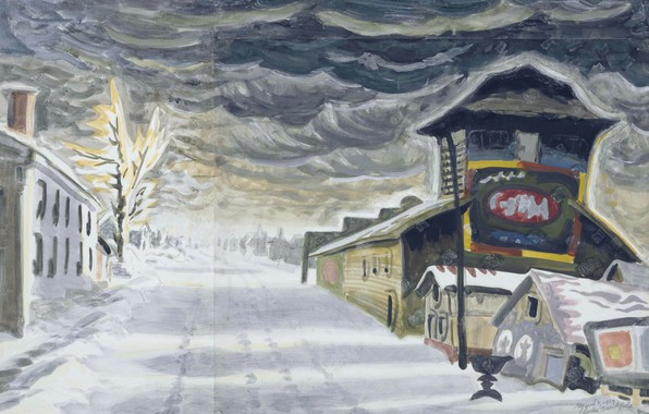 Photo wallpaper 1917, Charles Ephraim Burchfield, Clearing after a Snowstorm
