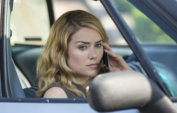 Picture auto, pose, phone, the series, in the car, Blacklist, The Blacklist, Megan Boone, Megan Boone, …
