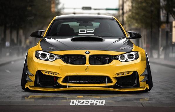 Picture Auto, Yellow, BMW, Machine, BMW M3, Rendering, Dmitry Strukov, Dizepro, by Dmitry Strukov