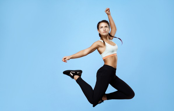 Picture girl, jump, sport, fitness