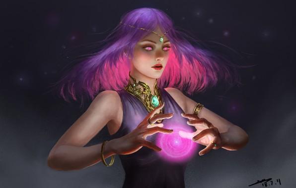 Picture look, girl, decoration, magic, hair, fantasy, art, bracelet, art