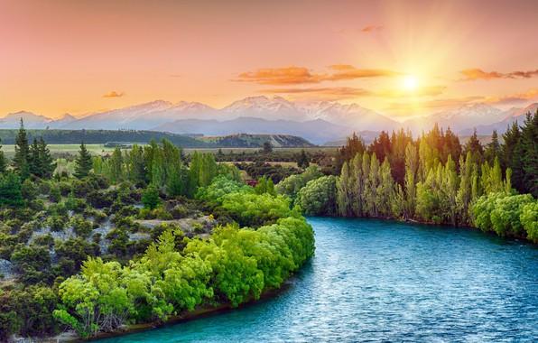 Picture Nature, Landscape, River, Trees