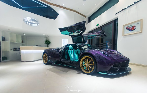 Picture Pagani, To huayr, Gullwing, Purple Carbon, Dinastia