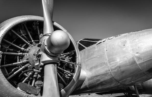 Picture metal, plane, engine, propeller