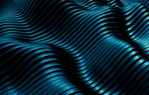 Picture wave, blue, abstraction, background, texture