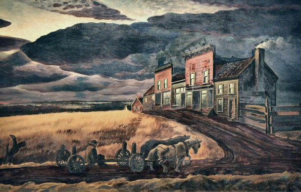Picture Charles Ephraim Burchfield, 1931-34, November Evening