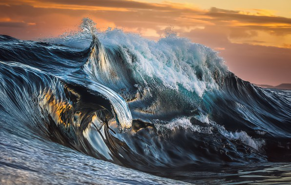 Picture sea, wave, the sky, water, clouds, nature, the ocean