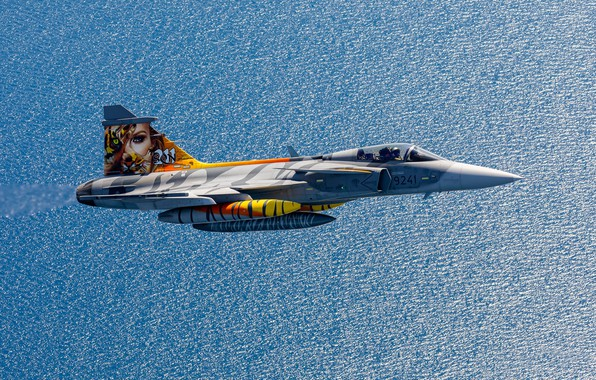 Picture flight, multi-role fighter, Swedish air force, Can JAS 39C Gripen