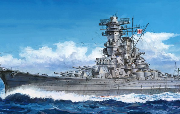 Picture battleship, The Imperial Japanese Navy, the naval forces of the Japanese Empire, Linear ships of …