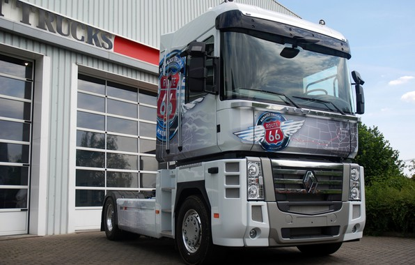 Picture truck, Renault, Route 66, Magnum, tractor, 4x2, Renault Trucks