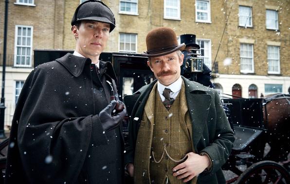 Picture snow, Sherlock Holmes, Martin Freeman, Benedict Cumberbatch, Sherlock, Sherlock BBC, Sherlock Holmes, John Watson, Ugly …