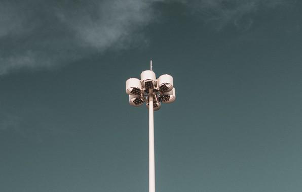 Picture the sky, minimalism, lantern, lamppost