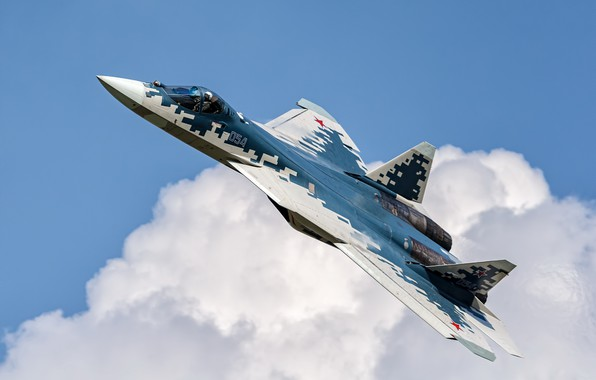Picture weapons, the plane, Su-57