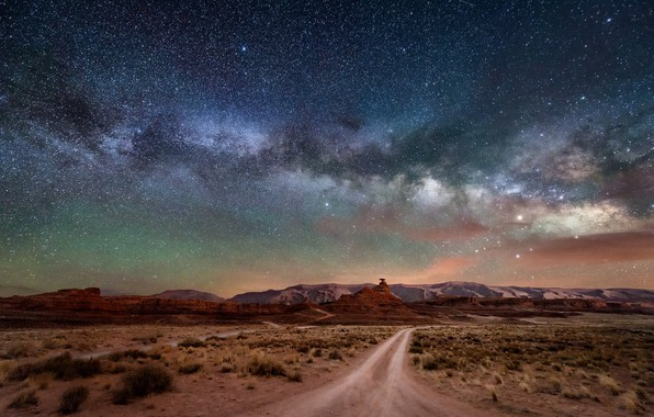 Picture stars, landscape, the milky way