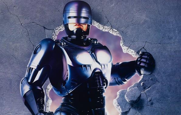Picture Wall, Stones, Steel, Iron, Costume, Hands, The film, Mechanisms, Robocop, Robocop, Character, Alex Murphy, Robot …