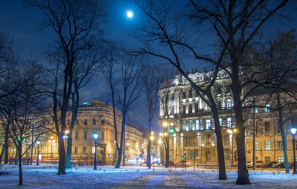 Picture winter, the city, street, view, Peter, Saint Petersburg, Russia, architecture, megapolis, Nevsky Prospekt, Leningrad